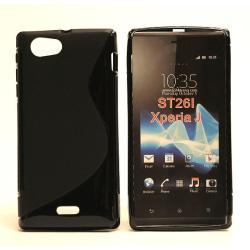 S-line skal Sony Xperia J ST26i Blå