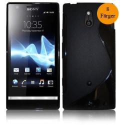 S-line skal Sony Xperia P (LT22i) Vit