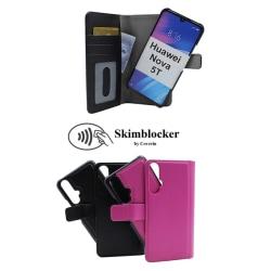 Skimblocker Magnet Wallet Huawei Nova 5T Svart