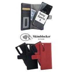 Skimblocker Magnet Wallet Sony Xperia 5 Svart