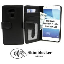 Skimblocker Plånboksfodral Huawei Honor 7 Lite (NEM-L21) (Svart)
