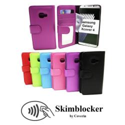 Skimblocker Plånboksfodral Samsung Galaxy Xcover 4 Svart
