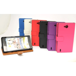 Standcase wallet Huawei Ascend G740 Vit