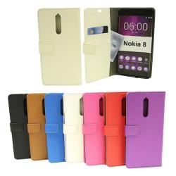 Standcase Wallet Nokia 8 Brun