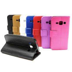 Standcase Wallet Samsung Galaxy J1 (SM-J100H) Brun