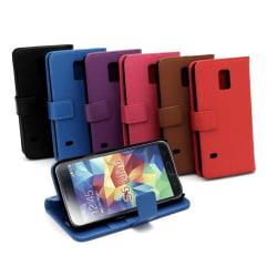 Standcase Wallet Samsung Galaxy S5 Mini (G800) Svart
