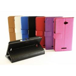 Standcase Wallet Sony Xperia E4 (E2105) Vit