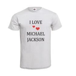 I LOVE MICHAEL JACKSON NO.2 T-SHIRT Vit XXL