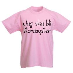 Jag ska bli storasyster rosa - barn T-shirt Rosa 104cl 3-4år