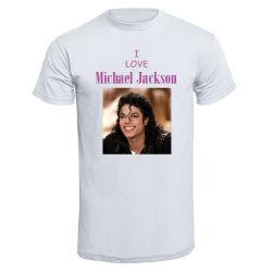 T-shirt - I love Michael Jackson  4 Vit 140cl 9-11år