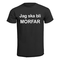 T-shirt - Jag ska bli morfar Blå L