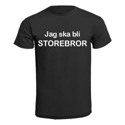 T-shirt - Jag ska bli storebror Grå 104cl 3-4år