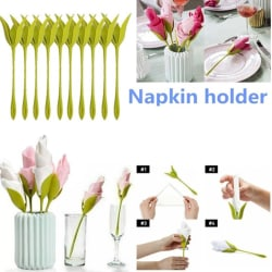 1/4/6 / 8st Servetthållare DIY Papper Rose Flower Branch Holder R 8pcs