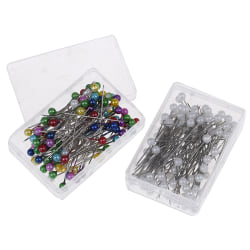 100 st / parti Sy raka klädnålar Pärlhuvud accesso Multicolor onesize