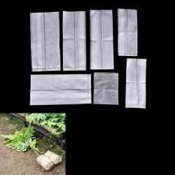 100st fröplanta höjande påsar växter påse Fiber plantskola krukor Ga