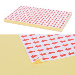 10800 st röda pilen klistermärken fel defekter märkning för rew