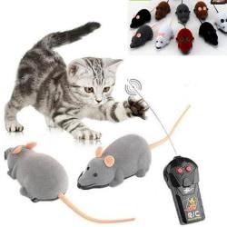 1PC Rolig fjärrkontroll RC Rat Mus Trådlös för katthund random color