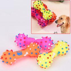 1PC Pet Dog Toy Chew Squeaky Gummileksaker för kattvalphundar Icke random color