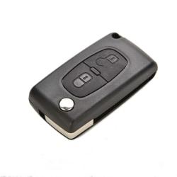 2 knappar Plastbyte för nyckelbyte för PEUGEOT