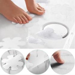 20PCS Flower Safety Treads Halkskydd Applique Sticker Mat Bath T White