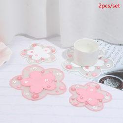 2st Japan Style Cherry Blossom Värmeisolering Bordsmatta Anti- C