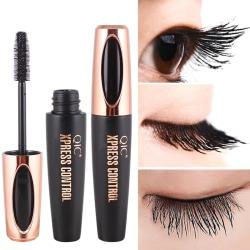 4D silkefiber ögonfransar mascara förlängning smink svart vattentät onesize