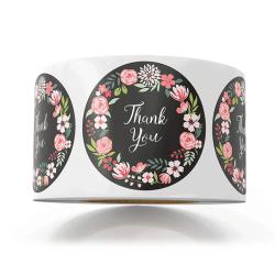 500st Blomma tack Runda självhäftande klistermärken DIY-paket Gif 25mm