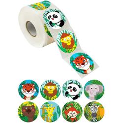 500st / rulle Djur tecknad klistermärke för barnleksaker klistermärke rewa one size