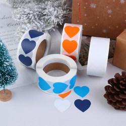 500st / set hjärtat Etiketter klistermärken festaktivitet gynnar statione Orange