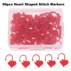 50st hjärtformade stygnmarkörer stickning virkad låsstickning
