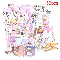 50ST Llama Alpaca Sticker Animal Stickers Laptop Bagage Skate 50pcs