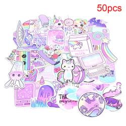 50st / pack Unicorn brevpapper klistermärken Doodling Travel DIY Lugg 50pcs