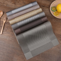 6 st Placemats Platsmatta Halkfri tvättbar bordsmattor PVC Värme A