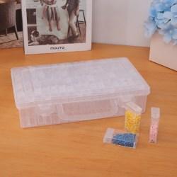 64 Slots Flaskor Diamantmålning Förvaringslåda Plast Rhineston one size