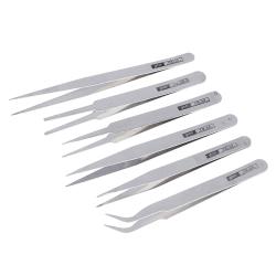 6st precisionspincett för alla ändamål rostfritt stål anti sta onesize