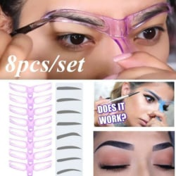 8ST DIY DIY Eyebrow Shaper Makeup Mall Ögonbryn Grooming Shapin 8pcs/set