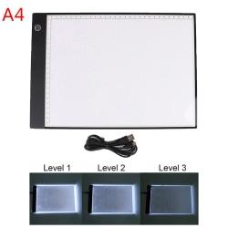 A4 LED-lampa Diamantmålningssats Verktyg Board Tillbehör E
