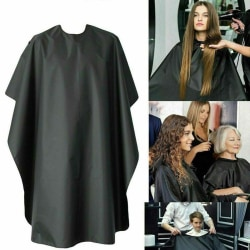 Vuxen Frisör Cape Gown Frisörklädsel Försäkringsförkläde Un Black