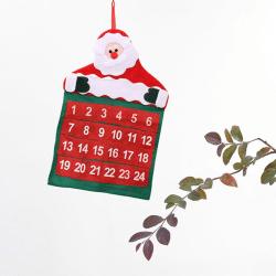 Jul Adventskalenderträd Hängande Xmas Pocket Countdown Di