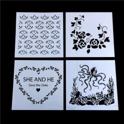 Craft Layering Flower Stencil Wall Painting Scrapbooking Prägling