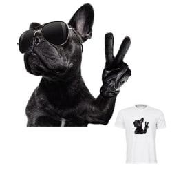 Hundstrykplåster Hushålls värmeöverföringsdekaler DIY kläder Large