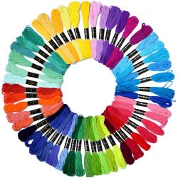 Broderi Floss Rainbow Color 50 strängar per förpackning korsstygn one size