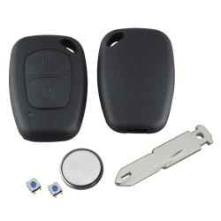 För Vauxhall Vivaro Movano Remote Key Fob Case Full Repair Kit