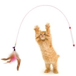 Funny Cat Stick Cat Toy Pet Toy With Feather Bells Rolig katt Po