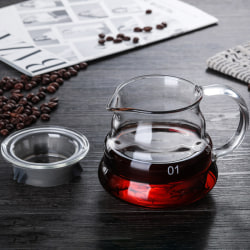 Glass kaffedroppskruksats Träfäste Glasfilter Reusab