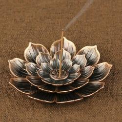 Rökelse Stick Holder Round Plate Buddhism Insense Ash Catcher J 1PC