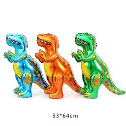 Stora 4D Walking Dinosaur Folie Ballonger Dinosaur Födelsedag Juras Blue