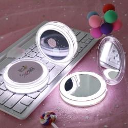 LED-upplyst Mini Makeup 3X förstorings kompakt bärbar avkänning N1