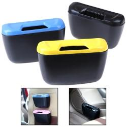 Mini bil soptunna låda bil förvaringsväska bil papperskorgen bil ac Black