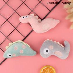 Mini Cat Slipning Catnip Toys Rolig interaktiv plysch tuggning T B